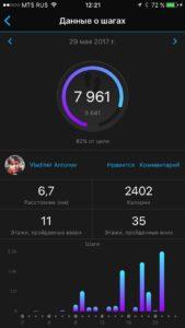 Garmin Fenix 5 - Данные о шагах