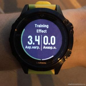 Garmin Fenix 5 - Эффект тренировки